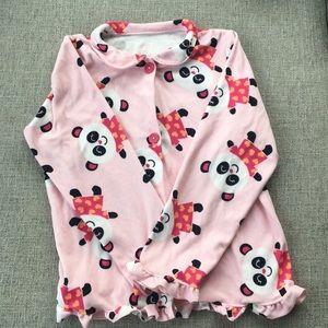 Carters pajamas with smiling panda bear